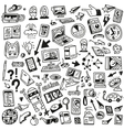 Devices  computers technology - doodles set vector image