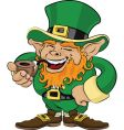 St Patrick's day leprechaun vector image
