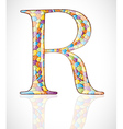 Abstract letter R vector image vector image