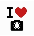 camera simbol on white background vector image vector image