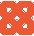 Orange spades pattern vector image