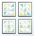 Triangle pattern Green And Yellow Styles set vector image