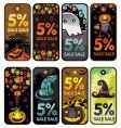 Halloween tags vector image