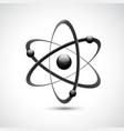 Atom logo symbol 3d vector image