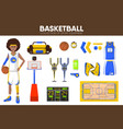 basketball sport equipment game player garment vector image