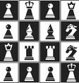 monochrome chess seamless pattern vector image