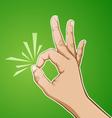 okay sign vector image