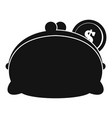 purse woman icon simple black style vector image