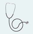 Realistic stethoscope in vector image
