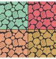 Set of four seamless pattern with cookies vector image