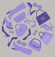 Shoes and bags composition vector image