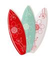 surf board designs vector image