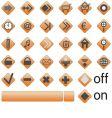 web button vector image