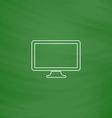 Monoblock PC computer symbol vector image
