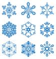 Original snowflakes set vector image vector image
