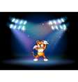 Tiger Center Stage vector image vector image