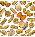 seamless pattern backdrop design of italian pasta vector image
