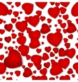 seamless pattern from hearts by a holiday vector image vector image