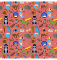 Domestic pets background Pattern vector image
