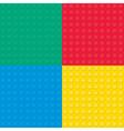 Building toy bricks seamless pettern vector image vector image