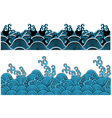 ocean wave pattern vector image