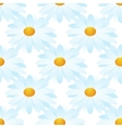 white camomile seamless vector image