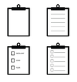 check list set icon in black vector image vector image