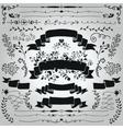 Black Hand Drawn Rustic Ribbons Banners vector image vector image