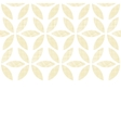 Abstract textile beige leaves horizontal seamless vector image