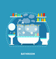 bathroom interior concept vector image