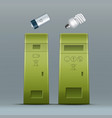 battery lamp recycling vector image