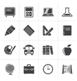 Black School and education icons vector image