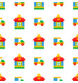 childrens toys for play time seamless pattern vector image