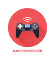 game controller flat style icon wireless vector image