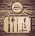 Hand painted tableware vintage background vector image