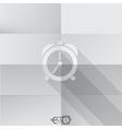 Paper Clock Icon vector image