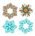 set of decorative frame modern elements for vector image