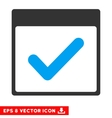 Valid Day Calendar Page Eps Icon vector image