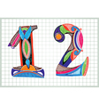 hand draw Sketchy Numbers vector image vector image