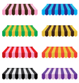 Colorful awning set isolated on white background vector image