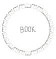 book doodle frame vector image