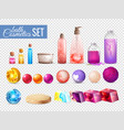 bath cosmetics packaging collection vector image