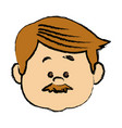 man people icon avatar adult person face viewed vector image