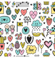 hand drawn romantic seamless pattern lovely vector image