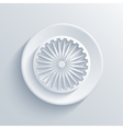 modern Indian republic day circle icon vector image