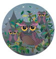 Owls on a Branch2 vector image