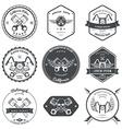 Race Bikers Garage Repair Service Emblems and vector image