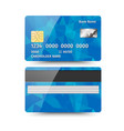 realistic detailed credit card with abstract vector image