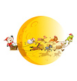 Santa and animals vector image