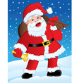 Santa with Gifts and Bell vector image